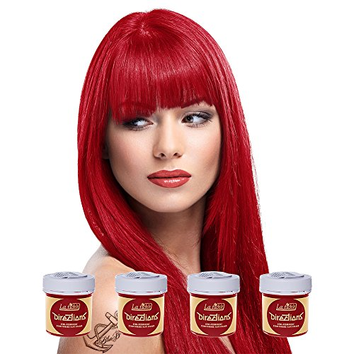 4 x La Riche Directions Semi-Perm Hair Colour Poppy Red (ALL COLOURS Avail) 4x 88ml by La Riche Directions