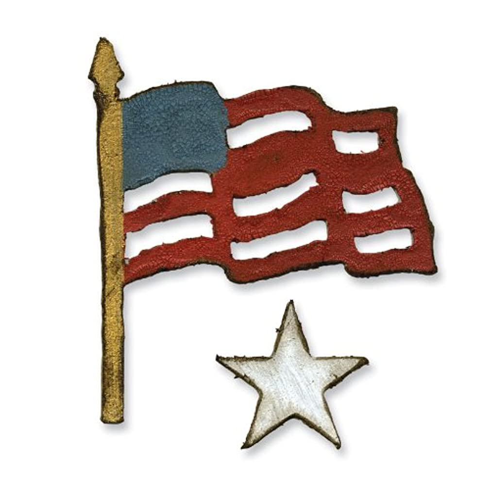 Sizzix 657477 Movers & Shapers Magnetic Die Set, Mini Old Glory Set by Tim Holtz, Pack of 2, Multicolor