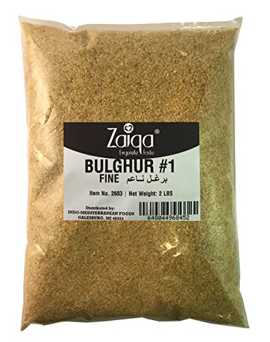 Bulgur Wheat #1 | Easy to Prepare, Delicious to Taste, 100% Whole Wheat Goodness | Good for Nutritious Quick Side Dishes, Pilafs & Soups | Also a Rice Alternative - 2 LBS (No. 1 - Fine Grain)