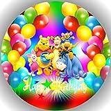 Premium Esspapier Tortenaufleger Geburtstag Winnie Pooh T50