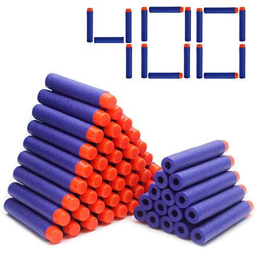 Airlab Darts Pfeile für Nerf Zubehör, 400er Refill Bullets für N-Strike Elite, Nachfüll-Pack Spielzeug für draußen und Familie, Blau