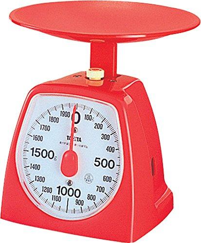 タニタ クッキングスケール キッチン はかり 料理 アナログ 2kg 10g単位 レッド 1439-RD