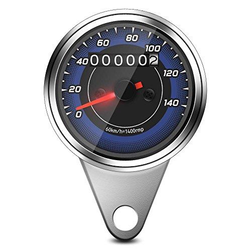 Suuonee Compteur kilométrique de moto, Compteur kilométrique universel de motocyclette Compteur de vitesse pour moto Jauge KM/H Compteur de vitesse
