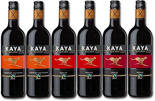 Kaya Fairtrade Rotwein Probierpaket Trocken - Wein Südafrika (6 X 0.75 L)