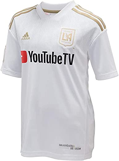 adidas LAFC 2018 Away Youth Jersey- White/Gold YS