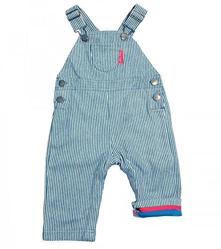 Toby Tiger Salopette Bébé - Bleu - Blue/White Stripe - FR : 3 mois (Taille fabricant : 62)