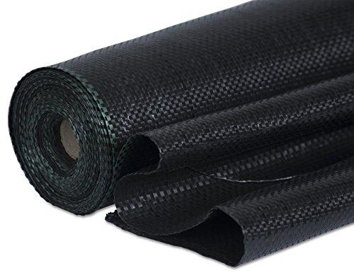 Windhager Unterbodengewebe, Unkrautvlies, Sandkastenvlies Bändchengewebe, 100 g/m², 10 x 2 m, schwarz, 06049