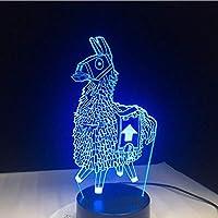 3D LED錯視ランプ ウォーズRGB可変式気分7色ライトタッチベースクールなナイトライトの誕生日ホリデーギフト