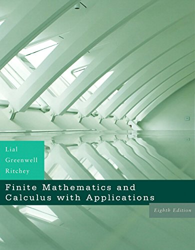 Compare Textbook Prices for Finite Mathematics and Calculus With Applications 8 Edition ISBN 9780321426512 by Lial, Margaret L.,Greenwell, Raymond N.,Ritchey, Nathan P.