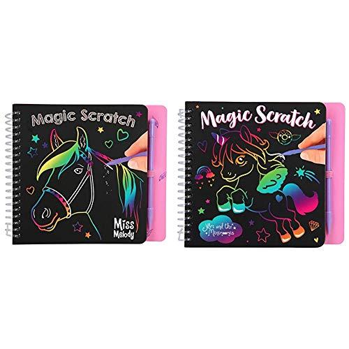 Depesche 10709 - Malbuch Magic Scratch Book, Miss Melody & 10710 - Malbuch Magic Scratch Book, Ylvi und die Minimoomis