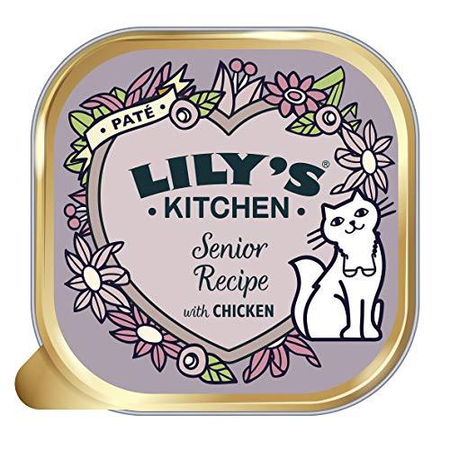 Lily's Kitchen Katzen Nassfutter mit Hühnerfleisch für Katzen ab 7 Jahren, Vollwertnahrung (19 x 85g)