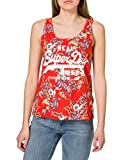 Superdry VL AOP Vest Chaleco, Red Hawaiian, XS para Mujer
