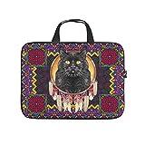 Native American Cat - Funda protectora impermeable para portátil, diseño de gato, para el trabajo, negocios, escuela, universidad, viajes, blanco (Blanco) - Dogedou670