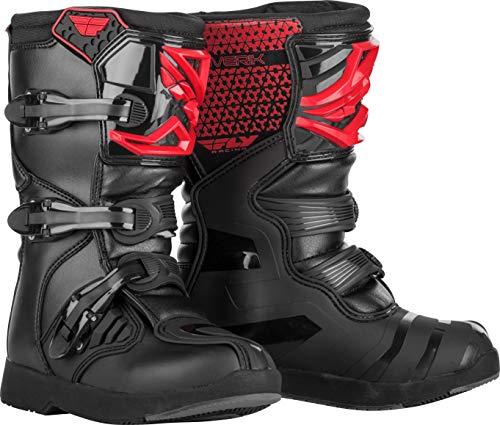 FLY Racing Maverik Boots for Motocross, Off-road, and ATV riding (SZ 04,RED/BLACK)