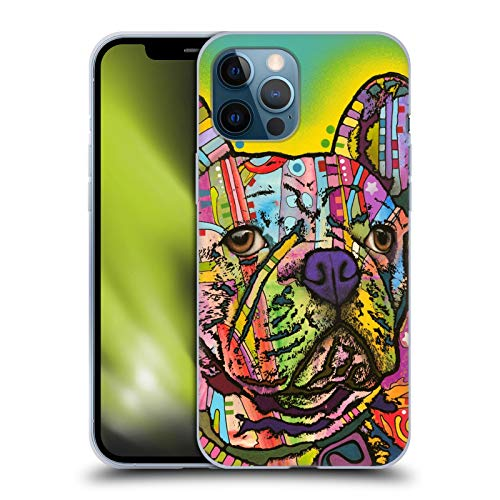 Head Case Designs Officially Licensed Dean Russo French Bulldog Dogs Soft Gel Case Compatible with Apple iPhone 12 Pro Max