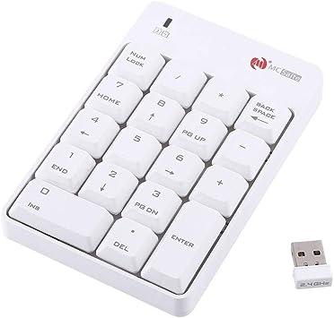 Topiky Teclado numérico USB, 2.4 GHz Teclado numérico ...