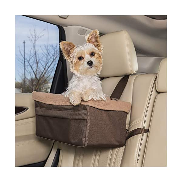 PetSafe Happy Ride Deluxe Booster Seat for Dogs – Elevated Pet Bed for Cars, Trucks and SUVs – Multiple Colors and Sizes, Includes Tether