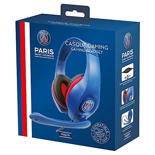 PSG - Paris Saint Germain - Gaming-Headset 40 mm mit Mikrophonn - Over-Ear Kopfhörer für PS5 - Xbox Serie X - PS4 - Xbox One - PC - Nintendo Switch (nur mit Fortnite)
