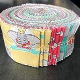 Camelot DUMBO - Rollo de 40 piezas para jalea (6 x 110 cm, 40 unidades, 6 x 110 cm), color rosa y blanco