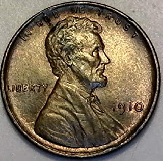 1910 P Lincoln High Grade Wheat Penny Cent MS-63