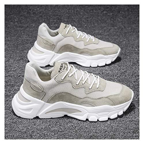 DXXLD Hombres Zapatos Casual Respirable del Verano al Aire Libre Luz Hombre Zapatillas de Deporte de 2020 Nuevo de la Manera Zapatos Masculinos cómodos (Color : Beige, Size : 40 EU)