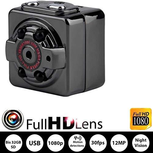 Mini Caméras espion Sans Fil, Caméras cachées pour Surveillance intérieure ou extérieure, caméra de Surveillance Nanny HD 1080P Spy Camera pour Bureau à Domicile ou l'enregistreur vidéo de Voiture