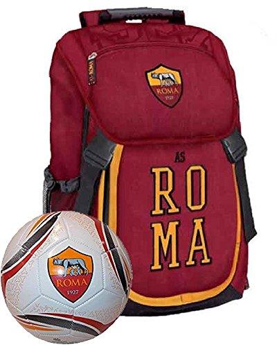 Zaino Scuola + Pallone Calcio Roma Calcio PS 06586