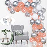 SPECOOL 72pcs Balloons Garland Arch Kit, ballons en latex ,or rose, blanc,Métallisé...