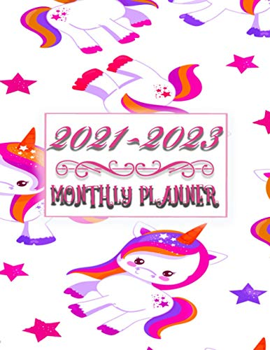 2021-2023 Monthly Planner: 3 Year Monthly Planner Calendar Appointment book And Schedule Organizer Unicorn Cover Gift For Girls And Kids