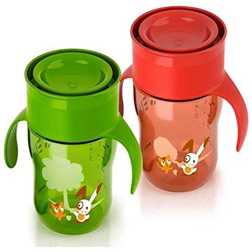 Philips Avent SCF782/00 La Tazza Da Grandi 260 ml - 1 pezzo (Rossa/Verde)