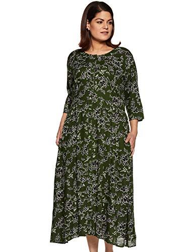 MyBlush Women's Rayon A-Line Midi Dress