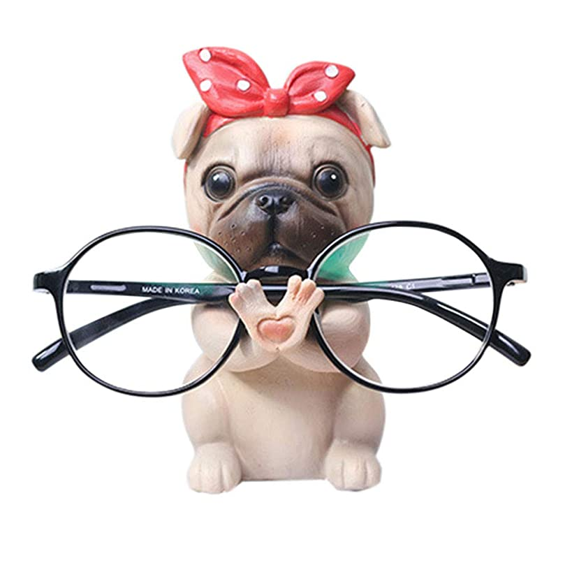 Puppy Dog Glasses Holder Stand Eyeglass Retainers Sunglasses Display Cute Animal Design Gift (Pug)