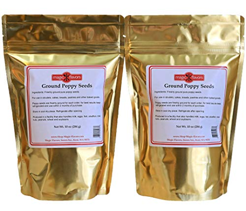 Magic Flavors Ground Poppy Seeds 20 oz 2 pack (10 oz per pouch) with Free Sample