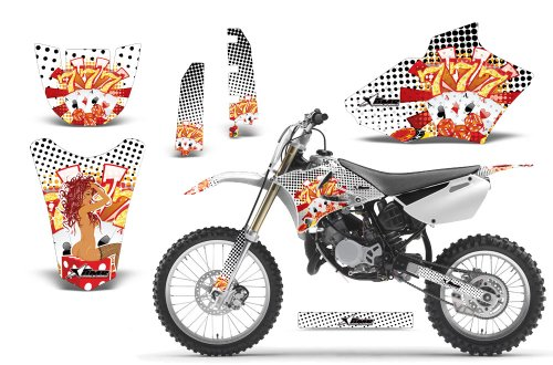 Jackpot-AMRRACING MX Graphics decal kit fits Yamaha YZ 85 (2002-2013)-White
