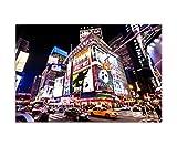 120x80cm - Fotodruck auf Leinwand und Rahmen New York City