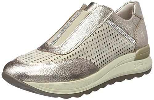24 HORAS 23585, Zapatillas sin Cordones Mujer, Dorado (Champan 3), 36 EU