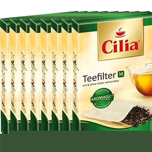 CILIA® Teefilter 100Stk. Grösse M mit/ohne Halter verwendbar ( 8er Pack )