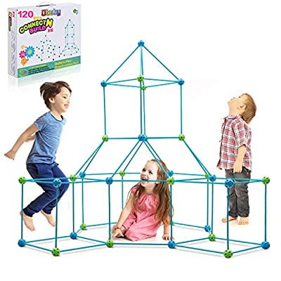 Obuby Kids Fort Building Kit 120 Pieces Construction STEM Toys for 5 6 7 8 9 10 11 12 Years Old Boys and Girls Ultimate Forts Builder Gift Build DIY Educational Learning Toy for Indoor & Outdoor from LINYILIFANG PLASTIC PRODUCTS CO.,LTD