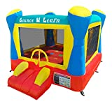 HullaBalloo Sales Bounce N Learn Commercial Bounce House with Blower Included, Vinyl Heavy Duty Commercial Inflatable, Backyard Bouncy House for Kids with Educational Elements