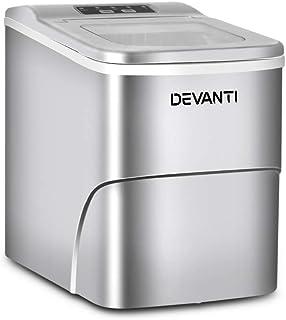 DEVANTi Portable Ice Cube Maker Machine 2L Home Bar Benchtop Easy Quick Silver