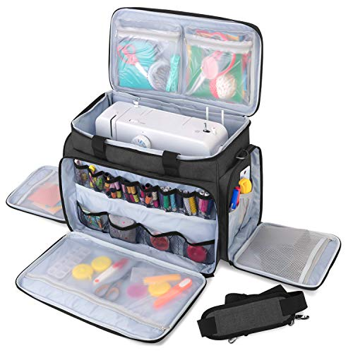 Review Luxja Sewing Machine Carrying Bag with Removable Padding Pad, Travel Case for Sewing Machine ...