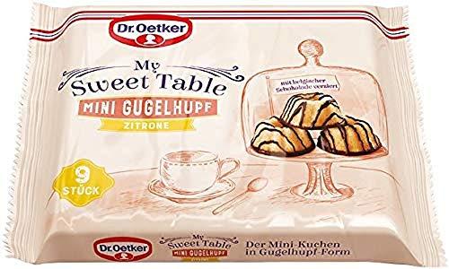 Dr.Oetker My Sweet Table Mini Gugelhupf Zitrone – kleiner Kuchengenuss mit saftigem Zitronenrührkuchen und verziert mit belgischer Schokolade 6er Pack (6 x 135g)