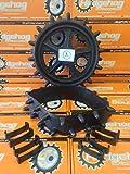 Hedgehog Golf Couvre-roues à picots, compatibles avec roues de chariot de golf de 9-10', protègent le fairway en hiver
