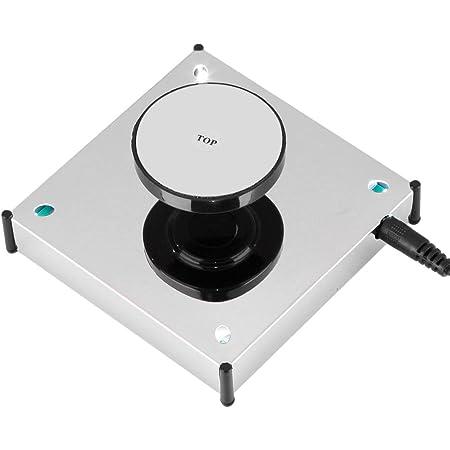 空中浮遊装置 空中浮遊台 磁気浮上シェルフ 磁気サスペンションディスプレイ 頑丈 防錆び 長持ち 4つLEDライト付き 360度回転 ディスプレイスタンド 多用途 高品質 贈り物やプレゼントとして適用(us plug)