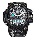 Joefox Reloj De Pulsera Electrónico Multifunción Impermeable 30mt Pantalla Deportiva Impermeable con Retroiluminación Led