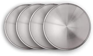 Universell passendes Radzierblendenset (4 Stück) 13 Zoll   Moon Caps für PKW, Oldtimer, Youngtimer (aus Edelstahl)~