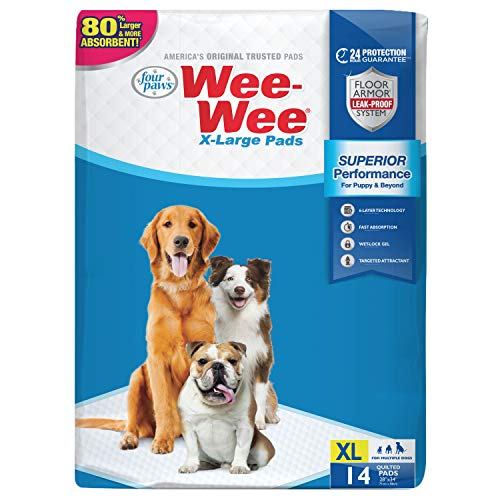 Four Paws Wee-Wee Superior Performance Dog Pads 14 Count 28