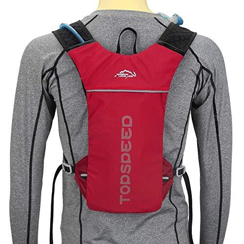 ANAN Maillot de bicicleta, mochila de hidratación, mochila con burbujas de agua...