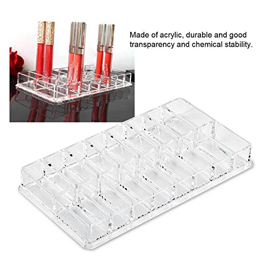 Cafopgrill Make-up Organizer, 16 Grid Transparant Acryl Grotere Make-up Compact Poeder Houder Organizer Power Wenkbrauw Poeder Houder Store Box