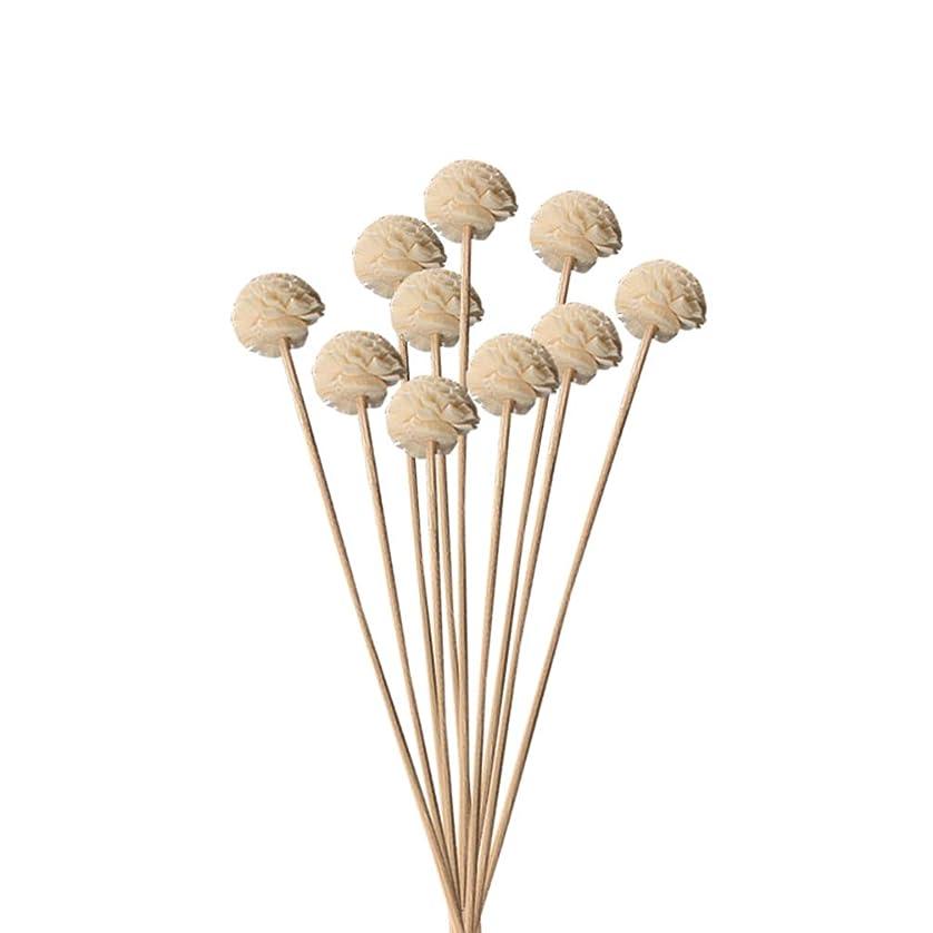 財団ナース階段Hongma 10本入り 造花 ラタンスティック リードディフューザー用 リフィル 高品質 かわいい クラフト 本色